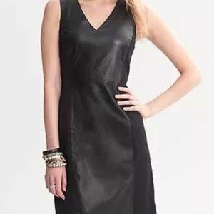 Banana Republic Leather Panel Sheath Dress size 0